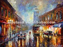 Famous abstact landscape paintings for sale/village landscape paintings