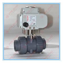 Electric plastic water upvc ball valve