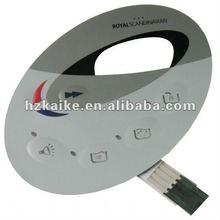PET Flexible Keypad Membrane Switch/Membrane Keyboard