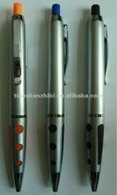 Click Erasable Ball Pen With Silver Cover