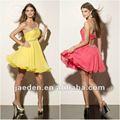 Jh0022 um- ombro babados bola vestido frisado vestidos de festa para juniores