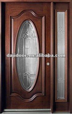 De lujo de madera oval vidrio puertas de entrada de dise o for Disenos de puertas en madera y vidrio