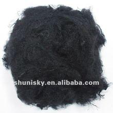 Black polyester fiber