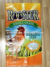 Bopp laminated transparent pp woven Philippine,Pakistan,Tailand rice sack