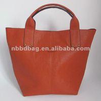 Stylish PU tote ladies handbags brand