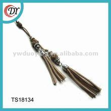 leather jewelry 2012 tassel pendant TS18134
