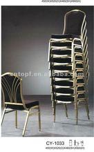 Wholesale Stackable Iron Frame Banquet Chair Black Color