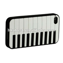 Piano Design Soft Silicone Rubber Skin Phone Cover Prortective Case For iPhone