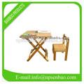 dobrado ao ar livre mesa de bambu