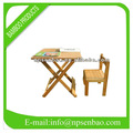 doblado al aire libre de bambú mesa