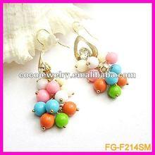 fashion acrylic earring with diamond