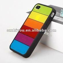 2012 Popular sale rainbow hard case for Iphone4s