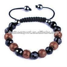 China shamballa bracelet wholesale coffee color