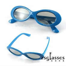 Cheap Promotion kids active red/cyan/blue 3d glass/3d glasses/3d eyewear plastic polarized polarizer film Factory Custom logo