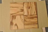 "9"" board SMOOTH Zebrano Square Edge Engineered Wood Flooring"