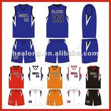 100% polyester custom basketball top
