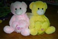 cute plush lover teddy bear toys with heart pillow