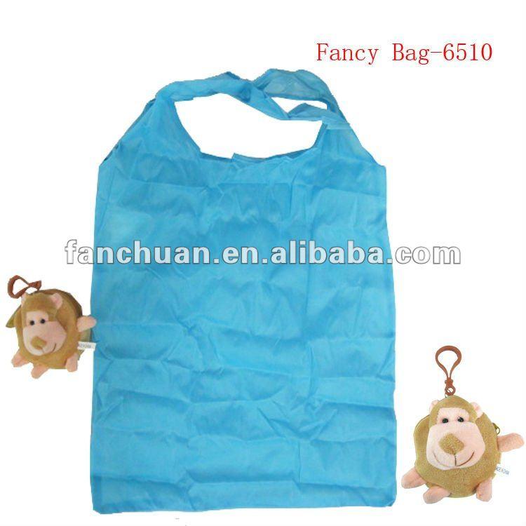 fashion monkey shaped foldable bag