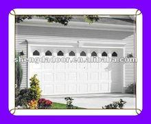 Cheap Overhead sectional garage door with manual and automaitc operation garage door exterior design windows insert