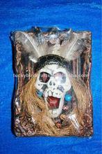Halloween indian skull decoration/skull