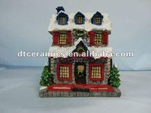 resin Christmas house
