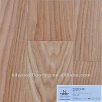 Natural light color red oak engineered wood flooring
