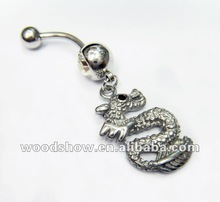 Animal Steel Dangle Belly button rings / Navel rings / Navel piercing Body jewelry/piercing
