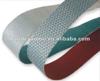 Gemstone polishing belts and sanding discs