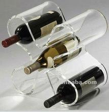 Hot sale 4 bottle clear acrylic wine bottle display/holders