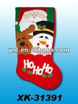 Christmas Decoration embroidered santa stockings