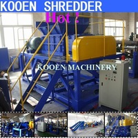 New condition shredder machine for plastic film lump bottle metal aluminum wood timber bottle container book paper