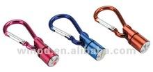 Alibaba express Aluminum blink flashing keychain promotion gift