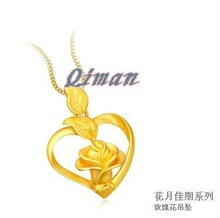 2013 charm gold rose pendent fashion