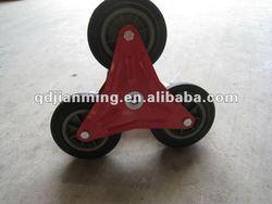 Small wheels stair climbing wheel stair up wheel stair sack truck wheels