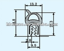 Auto rubber and steel compound seal strip