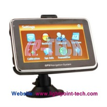 4.3 Inch Portable TFT Touch Screen +Built-in 2GB Memory + Media + Games Car Navigation GPS