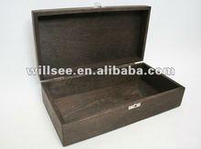 WB-1016-WB-1016 -Wooden Keepsake Jewelry Storage Box Dark Brown