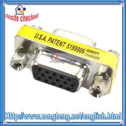 15 Pin HD SVGA VGA Female-Female Gender Changer Adapter