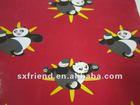 100% polyester Kung Fu Panda printing polar fleece fabric