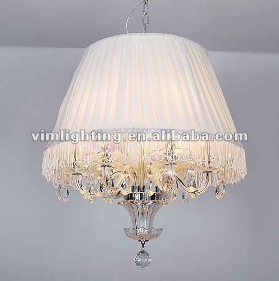 Popolare di lusso lampadario con paralumein tessuto for Lampadari moderni per camera matrimoniale
