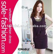 2012 Rose Trimmed Cotton long women Wholesale fashion tops