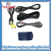 Dark Blue PC MAC VGA to TV AV S-Video Converter Box(Converter)