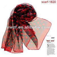 fashionable ladies latest design long slik scarf