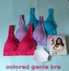 Colored Genie Bra with removal pads Purple/Blue/Red per Set