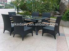 Outdoor PE rattan furniture dinning set