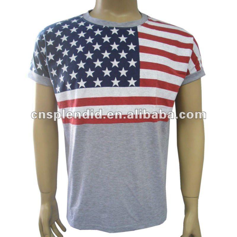 Gray (LA) United States  City new picture : Hommes gris usa drapeau t shirt T shirt Id du produit:574024029 ...