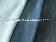 El peso ligero de algodón puro hilado teñido de cambray/tejer denim tela cambray vestido