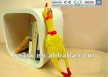 plastic shrilling chicken toys for children