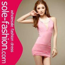 2012 Pink Halter women Fashion Wholesale Dress Clothes