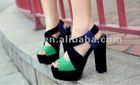 Ladies high heels platform shoes/dress pumps 2012 (XT-SF39)